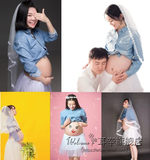 Korean version of pregnant women clothing 2019 new cute mommy art photo photo clothing studio photo pregnant women photo service