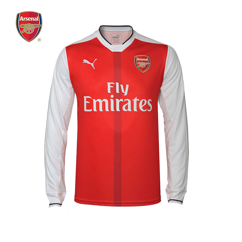 阿森纳Arsenal彪马Puma16-17主场男子长袖运动T恤球衣队服足球服