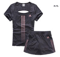 Summer tennis wear women's suit Korea sports skirt pants anti-light two-piece badminton wear women's professional quick-drying