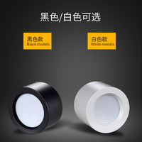 LED wall mounted downlights Free opening ceiling hanging line mounted spotlights all black shell white ceiling light ceiling lamp project