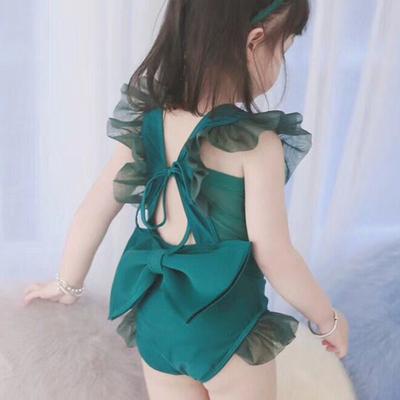 韩国儿童泳衣女孩可爱小公主裙式宝宝婴儿女童中大童亲子母女泳装