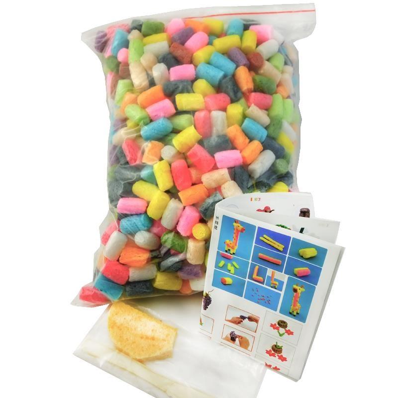 500粒 DIY玉米粒 幼儿园手工益智玩具环创材料 彩色混装12色
