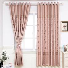 窗帘遮光卧室飘窗成品2.2米高短窗帘半帘客厅阳台隔热遮阳窗帘