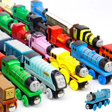 5岁益智玩具车 木质轨道滑行玩具3 木质托马斯小火车磁性套装