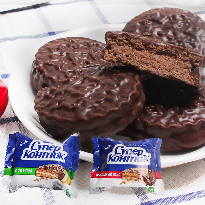 巧克力花生味饼干