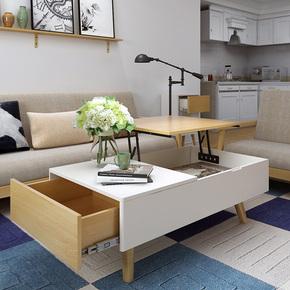 茶几可升降多功能两用餐桌创意小户型客厅家具现代简约桌子折叠桌