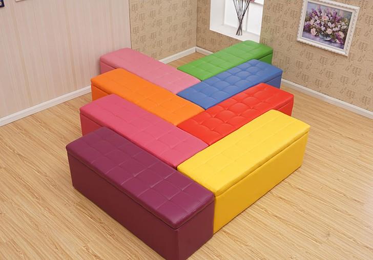 单人居家休息凳子员工客厅浴室单人长沙发可坐换鞋凳鞋架加宽家居