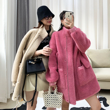 Fall and Winter 2019 New Haining Fur Granule Sheep Plushing Coat with Woman Composite Fur