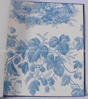 美国进口纯纸墙纸 风景画人物花鸟图案书房背景墙 卧室满铺壁纸