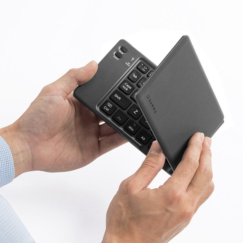 日本SANWA山业折叠便携无线蓝牙键盘安卓苹果ipad手机MAC平板静音