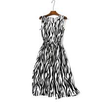 新款波西米亚棉绸连衣裙 精细柔软绵绸海边度假沙滩裙 系带收腰裙