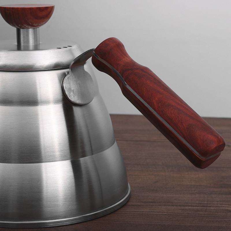 304不锈钢手冲咖啡云朵壶长嘴细口壶咖啡滴漏手冲壶家用电磁炉壶