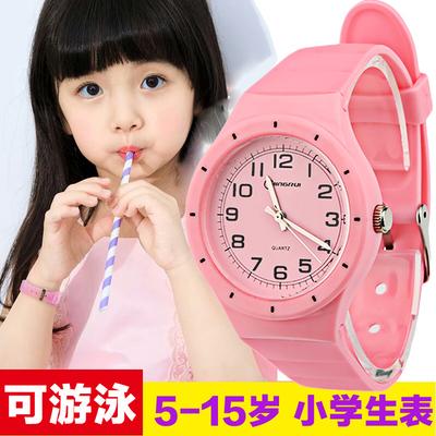 儿童手表女孩男孩防水韩国果冻表小学生手表电子表小孩手表石英表哪个牌子好