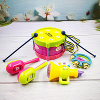 Baby hand drums happy set baby children small trumpet early education enlightenment educational toys 0-3 years old 6-12 months