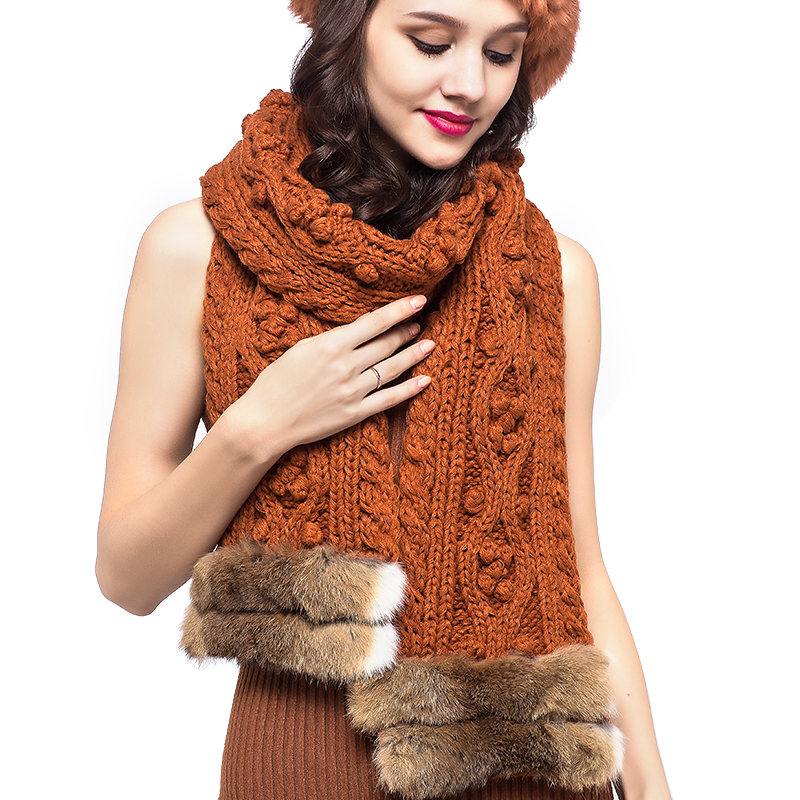 纯毛针织围巾