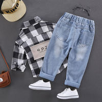 Boys jeans spring and autumn 2019 new children loose baby trousers boy foreign children Korean version of the pants tide