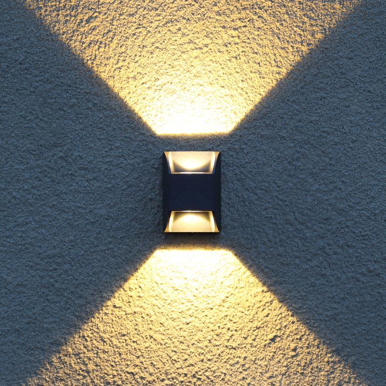现代简约户外双头壁灯外墙上下射灯室外防水庭院灯阳台过道墙壁灯