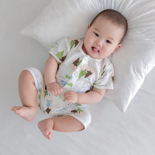 宝宝夏季睡衣纯棉空调服薄款婴儿幼儿短袖套装男女童小童家居服秋