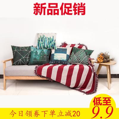 创意几何亚麻抱枕套靠垫办公室客厅午睡枕护腰靠垫汽车靠枕沙发垫什么牌子好