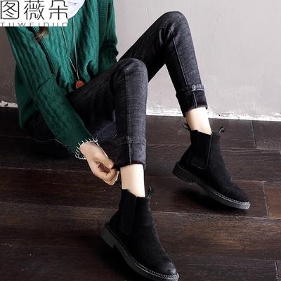 加绒加厚打底裤女外穿2017秋冬季新款韩版百搭牛仔铅笔小脚裤子女