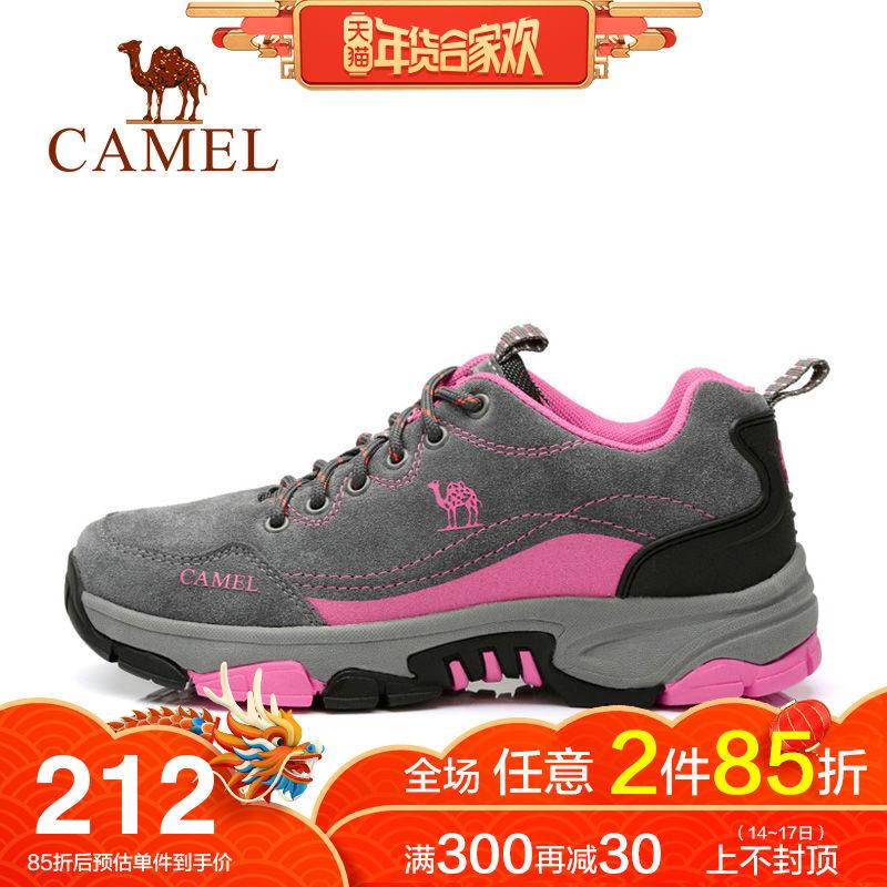 【热销14000双】骆驼户外女鞋徒步登山鞋冬季防水防滑轻便运动鞋
