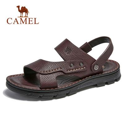 骆驼男鞋  2018夏季款男商务凉鞋 两穿牛皮凉鞋 弹性轻便休闲凉鞋
