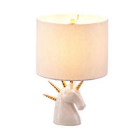 Imm living light pink multi-horn horse style simple style fashion home lamp table lamp