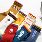 高袜子女中筒袜韩版ulzzang薄款ins潮流男长袜可爱日系长筒袜夏季
