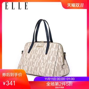 ELLE女包新款时尚手提包61268大容量字母印花单肩包斜挎包女包包