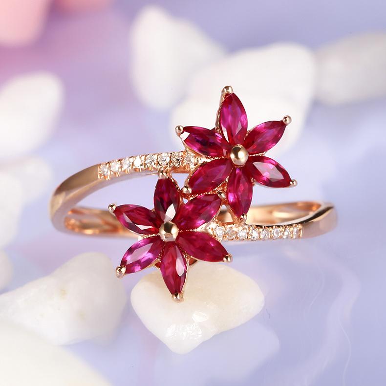 现货红宝石戒指