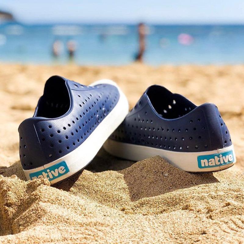 加拿大native洞洞鞋蓝标男女鞋Jefferson沙滩鞋 透气夏季软凉拖鞋