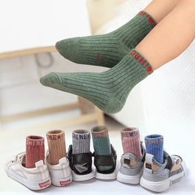 儿童袜子纯棉男女孩秋冬中大童中筒加厚1-3-5-7-9-12岁 宝宝棉袜