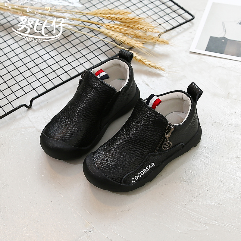 男童棉皮鞋黑色