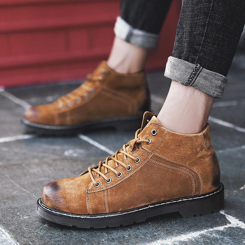 低帮靴男棕