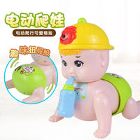 Baby electric climbing baby will sing and walk twisted butt shine 3-6-8-12 months baby puzzle learning climbing toys