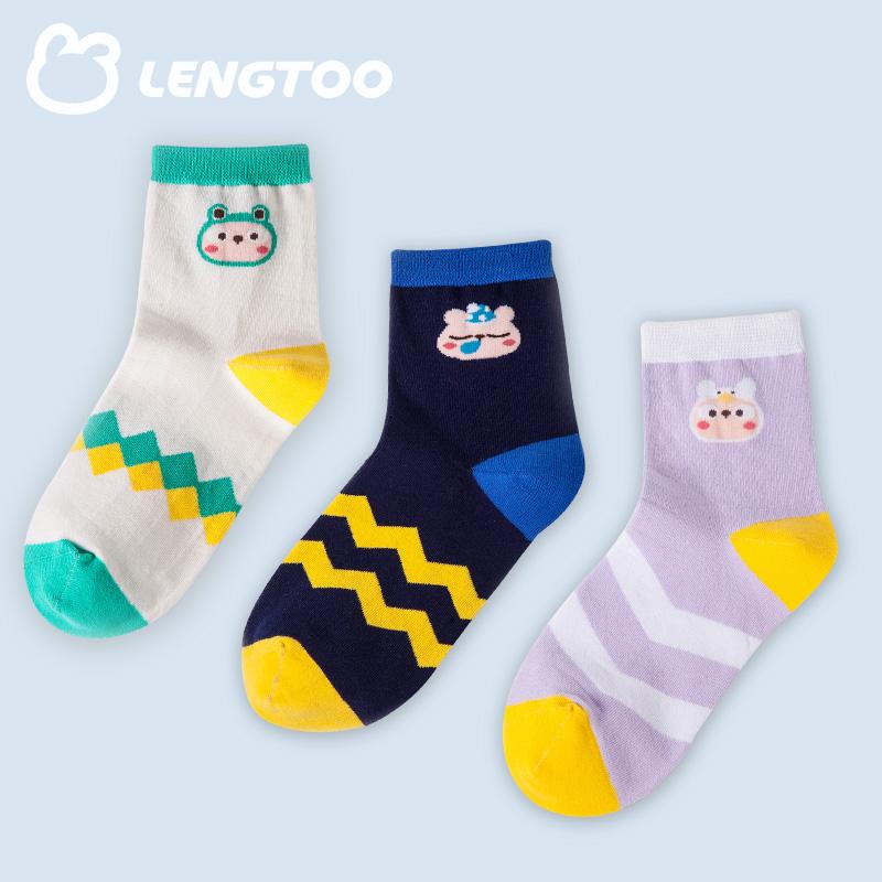 短袜卡通可爱潮女中筒袜三双盒装冷兔袜子