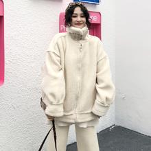 学生百搭棉袄衣服宽松羊羔毛加厚毛茸茸外套女 2018新款 秋冬装 韩版图片