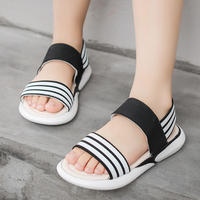 Girls sandals 2019 summer tide new soft bottom children's sandals and slippers girls big children's beach shoes princess sandals