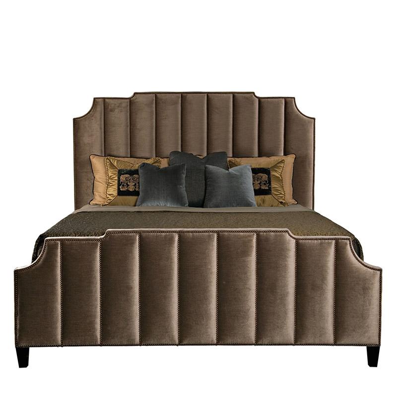 新中式床軟包布藝床
