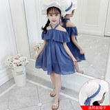 Girldress 2019 new summer vacation travel network red band hat girl yang three dress