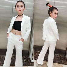 潮流服 个性 薇设计高端私人定制走秀模特礼服白色西装 T台走秀西装
