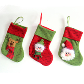 1PCS Holiday Decorative Merry Christmas Ornament Stockings C