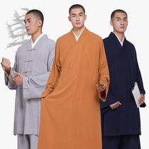 尚远单丽棉麻四季亚麻僧服长褂大褂僧衣短褂僧袍僧人和尚服罗汉褂