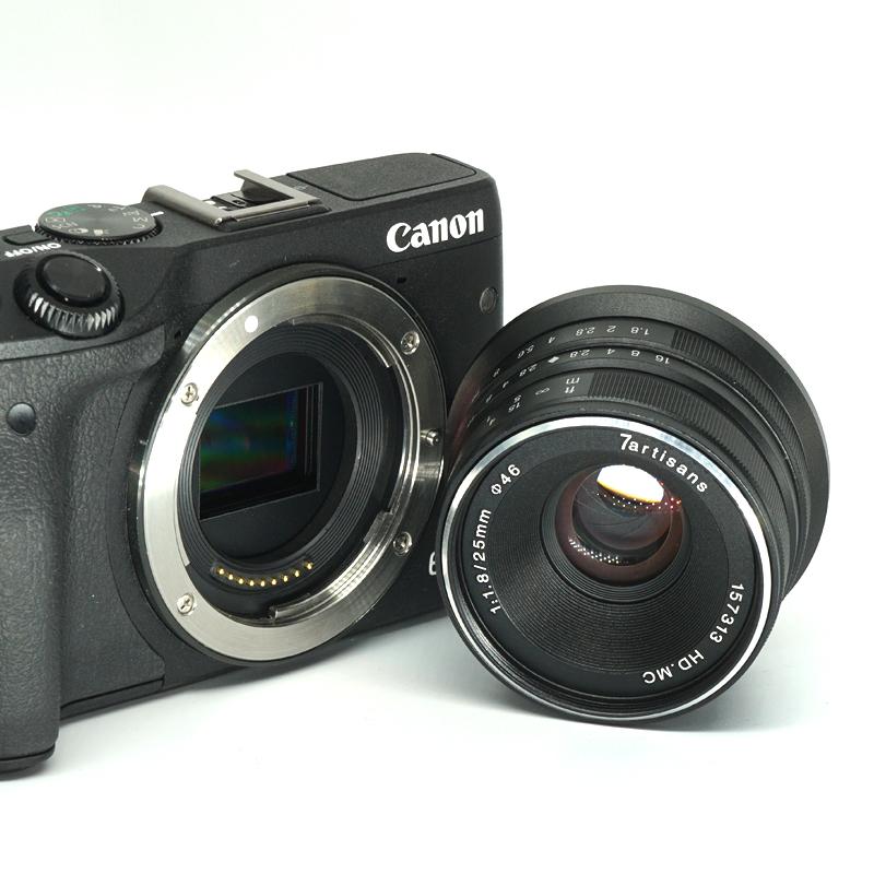 七工匠镜头25mm F1.8微单sony索尼e卡口富士镜头松下手动人文定焦