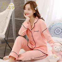 Month clothing cotton pregnant women pajamas summer thin section postpartum breastfeeding breastfeeding spring and autumn maternity home set pregnancy