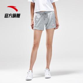 安踏短裤女运动裤 2019夏新系带针织跑步短裤女裤官网旗舰店正品