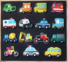 汽车冰箱贴儿童磁性黑板白柏褰叹呖砂磁力贴吸铁石创意汽车磁性贴图片