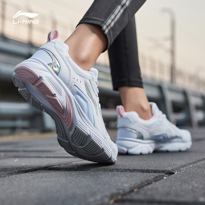 李宁跑步鞋女鞋2019新款减震耐磨防滑情侣鞋跑鞋鞋子复古运动鞋