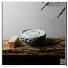 Jingdezhen Porcelain Ancient Inkstone Platform with Small Wrapped Branches Painted by Sailors