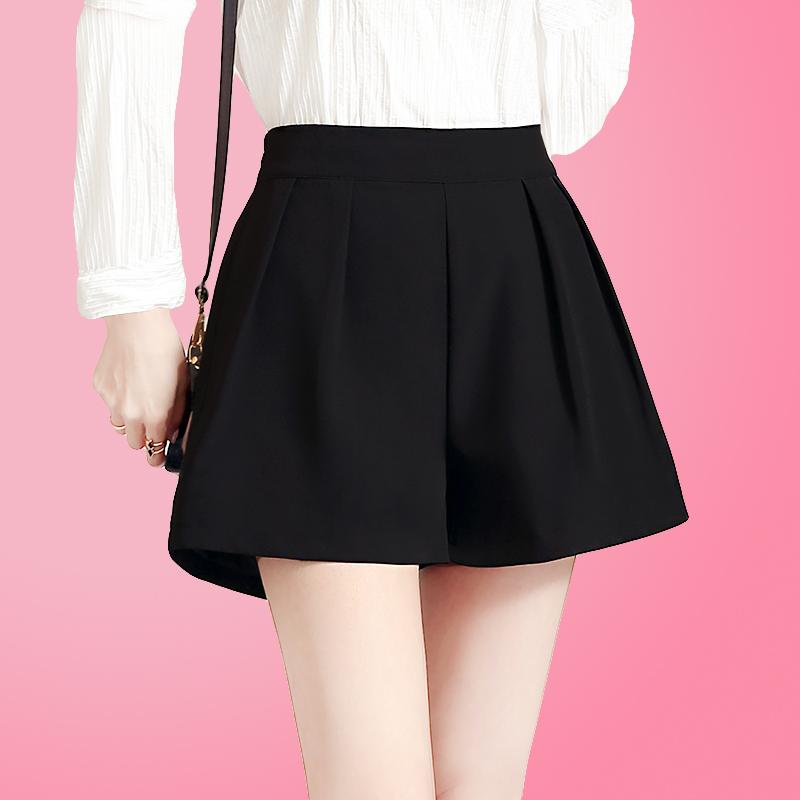 雪纺短裤高腰